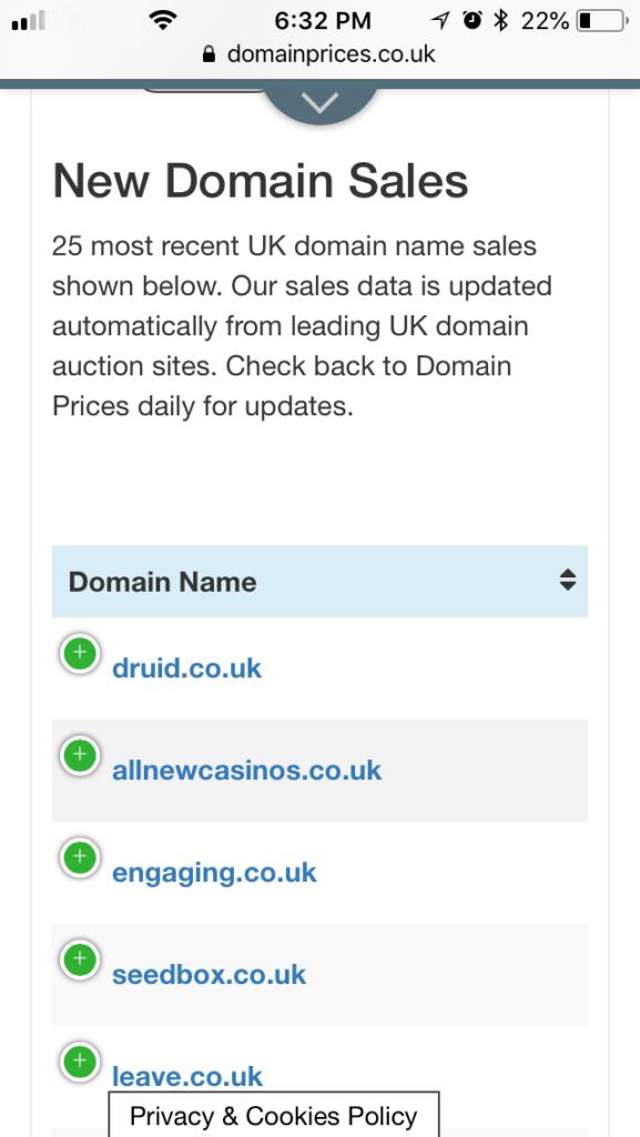 domain search app